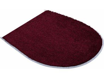 Badematte »BONA« Grund, Höhe 20 mm, fußbodenheizungsgeeignet, rutschhemmender Rücken, lila, WC-Deckelbezug 47x50 cm
