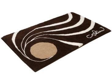 Badematte »Colani 18« Colani, Höhe 24 mm, rutschhemmend beschichtet, fußbodenheizungsgeeignet, braun, quadratisch 60x60 cm