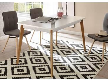 andas Esstisch »Merle« im skandinavischen Design, Breite 140 (-180) cm, weiß