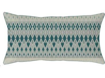 Kissenbezug »Velda«, Curt Bauer, mit gemusterten Streifen, grün, Mako-Brokat-Damast, 1x 40x80 cm