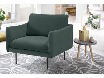 andas Sessel »Mavis«, mit losen Sitz- und Rückenkissen, skandinavischer Stil, grün, Samt-Struktur