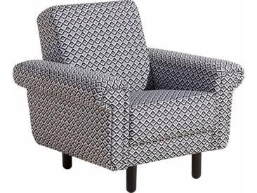 Max Winzer® Sessel »Jenne« ILLUSION, im Retro-Look, Breite 93 cm, schwarz, Flachgewebe 16101 ILLUSION