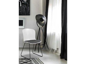 andas Schalenstuhl »Layla« 2er Set, in zwei verschiedenen Farbvarianten, mit bequemen Webstoff Sitzkissen, Sitzhöhe 46 cm, weiß