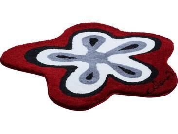 Badematte »Colani 1« Colani, Höhe 24 mm, rutschhemmend beschichtet, fußbodenheizungsgeeignet, rot, wellenförmig 80x80 cm