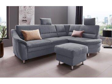 Places of Style Hocker »Cardoso«, mit Stauraum, passend zur Serie, grau, Luxus-Microfaser ALTARA NUBUCK®