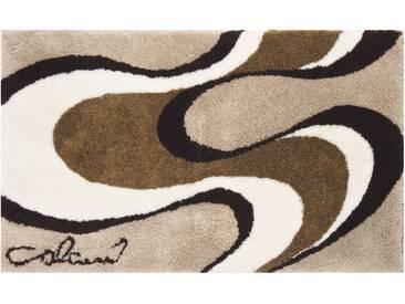 Badematte »Colani 11« Colani, Höhe 24 mm, rutschhemmend beschichtet, fußbodenheizungsgeeignet, beige, rechteckig 70x120 cm