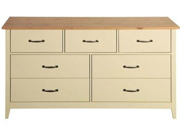 Home affaire Kommode «Norfolk», mit 7 Schubladen, Breite 143 cm, weiß