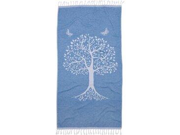 Hamamtuch »Lifetree«, Seahorse, mit einem Baum, blau, Jaquard, 1x 90x180 cm