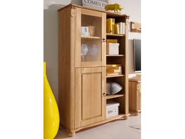 Home affaire Vitrine »Ferrera«, 140 cm hoch, beige