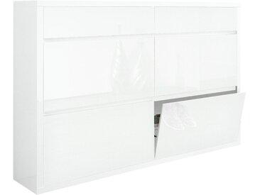 Schuhschrank, HMW, »Spazio«, Breite 133,5 cm, mit griffloser Optik, weiß