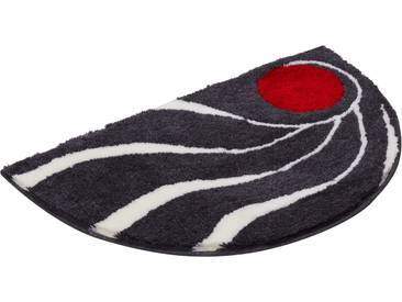 Badematte »Colani 18« Colani, Höhe 24 mm, rutschhemmend beschichtet, fußbodenheizungsgeeignet, grau, halbrund 50x80 cm