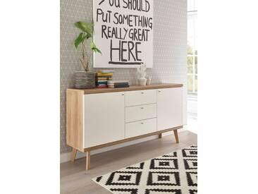 andas Sideboard »Merle« im skandinavischen Design, Breite 160 cm, braun