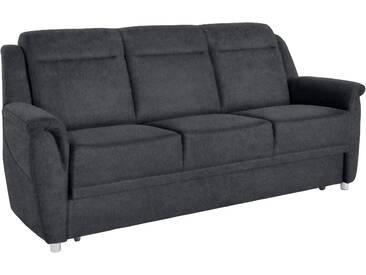 sit&more 3-Sitzer, wahlweise mit Bettfunktion, grau, Luxus-Microfaser ALTARA NUBUCK®