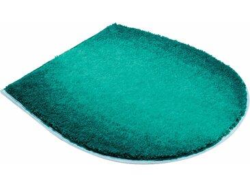 Badematte »Moon« Grund, Höhe 22 mm, fußbodenheizungsgeeignet, schnell trocknend, strapazierfähig, rutschhemmender Rücken, grün, WC-Deckelbezug 47x50 cm