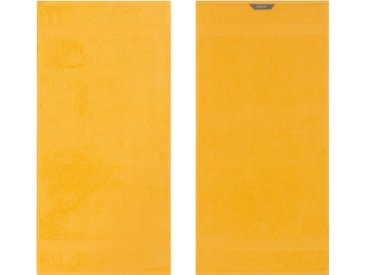 Handtücher »Diamant«, Egeria, in Uni gehalten, gelb, Frotteevelours, 2x 50x100 cm