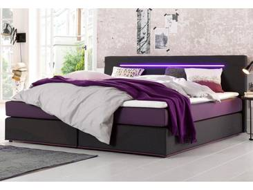 Collection AB Boxspringbett inkl. LED-Beleuchtung und Topper, grau