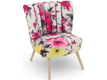 Max Winzer® build-a-chair Stuhlsessel »Aspen« im Retrolook, zum Selbstgestalten, rosa