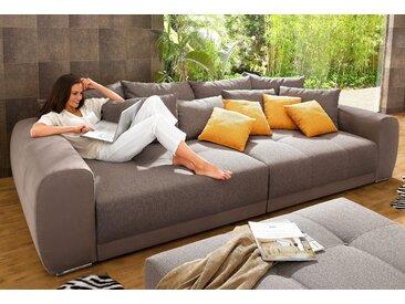 Jockenhöfer Gruppe Big-Sofa, braun, Luxus-Microfaser ALCATOP / Struktur fein
