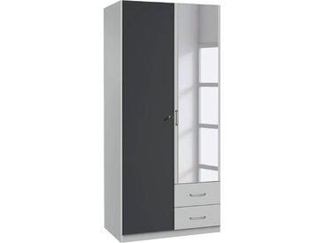 rauch Kleiderschrank »Bergheim« abschließbar, grau, 90 cm x 197 cm x 54 cm
