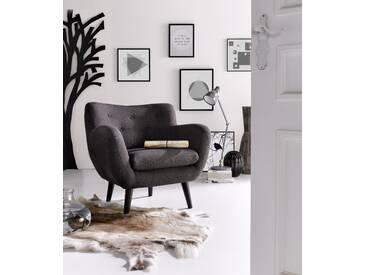 INOSIGN Sessel im Retro-Style, grau, Struktur