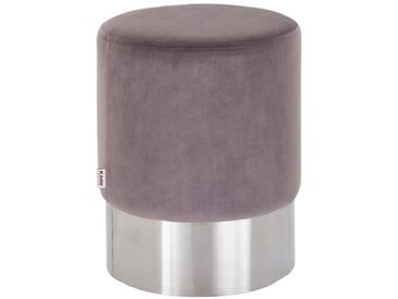 KARE Design Hocker Bezug in Samt-Optik, grau