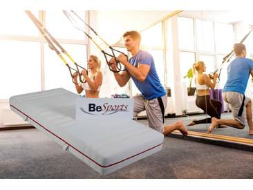 Komfortschaummatratze »HS Plus 2200«, BeSports, 22 cm hoch, Raumgewicht: 35, (1-tlg), Top für Rücken, Muskulatur und ihre Fitness, 1x 100x200 cm
