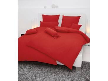 Bettwäsche »Piano«, Janine, einfarbig gehalten, rot, Soft-Seersucker