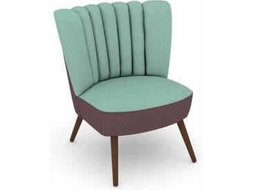 Max Winzer® build-a-chair Stuhlsessel »Aspen« im Retrolook, zum Selbstgestalten, blau
