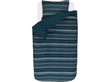 Wendebettwäsche »Valiar«, Esprit, mit schmalen Bordüren, blau, Biber