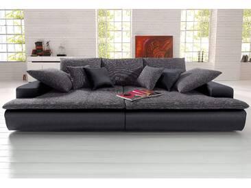 Nova Via Big-Sofa, wahlweise in 2 Größen, schwarz, Kunstleder SOFTLUX® / Struktur