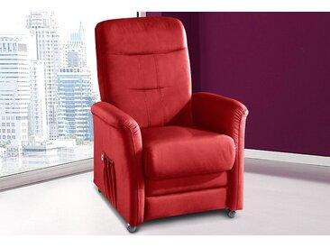 sit&more TV-Sessel, wahlweise mit Motor und Aufstehhilfe, rot, Luxus-Kunstleder
