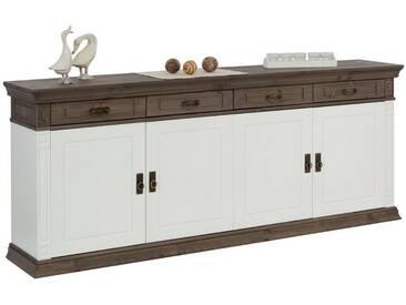 Home affaire Sideboard »Vinales« im klassischen Landhausstil, Breite 204 cm, weiß