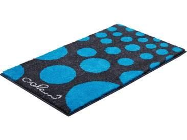 Badematte »Colani 16« Colani, Höhe 24 mm, rutschhemmend beschichtet, fußbodenheizungsgeeignet, blau, rechteckig 50x60 cm