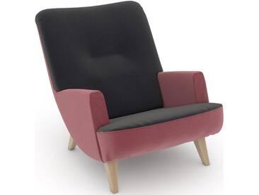 Max Winzer® build-a-chair Loungesessel »Borano« im Retrolook, zum Selbstgestalten, grau
