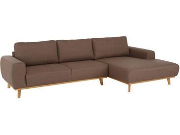 Home affaire Ecksofa »Gabrielle« mit Holzrahmen, im eleganten skandinavischen Design, braun, Webstoff