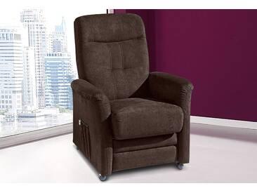 sit&more TV-Sessel, wahlweise mit Motor und Aufstehhilfe, braun, Luxus-Microfaser ALTARA NUBUCK®