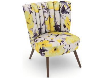 Max Winzer® build-a-chair Stuhlsessel »Aspen« im Retrolook, zum Selbstgestalten, gelb