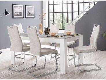 Homexperts Essgruppe »Zabona«, (Set, 5-tlg), 4 Stühle und 1 Tisch, beige