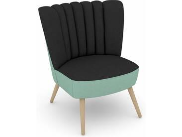 Max Winzer® build-a-chair Stuhlsessel »Aspen« im Retrolook, zum Selbstgestalten, schwarz