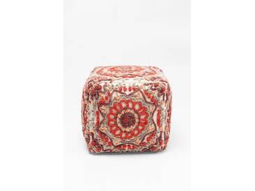 KARE Design Sitzwürfel »Arabian Flower Reddish«, rot