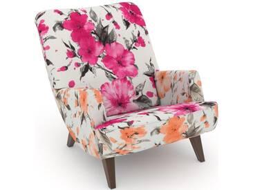 Max Winzer® build-a-chair Loungesessel »Borano« im Retrolook, zum Selbstgestalten, rosa