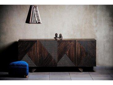 Home affaire Sideboard »Dove«, mit schönen Fräsungen im Schachbrettmuster auf den Fronten der Türen, Breite 177 cm, braun