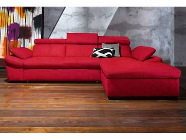 exxpo - sofa fashion Polsterecke, wahlweise mit Bettfunktion, rot, Microfaser PRIMABELLE®