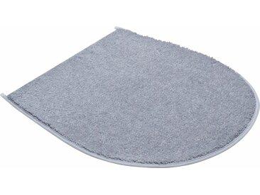 Badematte »Fantastic« Grund, Höhe 20 mm, schnell trocknend, strapazierfähig, rutschhemmender Rücken, grau, WC-Deckelbezug 47x50 cm