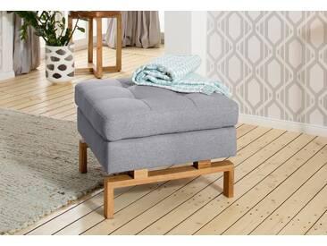 andas Hocker »Taranto«, elegantes Design, ausgefallenes Fußgestell aus Holz, grau, Struktur fein