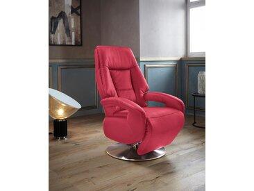 Places of Style TV-Sessel »Launceston«, in Größe S, wahlweise mit Motor und Aufstehhilfe, rot, NaturLEDER®