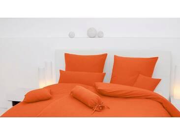 Kissenbezug »Piano«, Janine, einfarbig gehalten, orange, Seersucker, 1x 80x80 cm