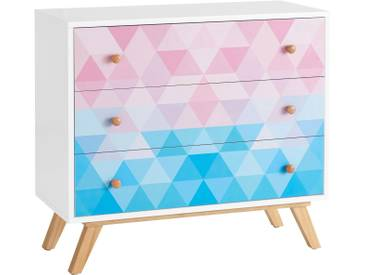 Home affaire Kommode »Zick-Zack« im Retro-Design, Breite 90 cm, bunt