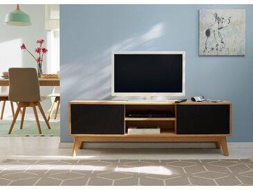 Guido Maria Kretschmer Home&Living Lowboard »Calluna«, im trendigen, skandinavischem Design, Türen sind mit Push-to-Open Funktion, Breite 158 cm, schwarz