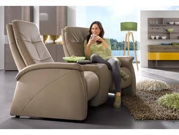 2-Sitzer, City Sofa, mit Relaxfunktion, integrierter Tischablage und Stauraumfach, exxpo - sofa fashion, grau, NaturLEDER